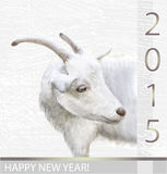 Goat is the symbol of 2015. For calendar royalty free illustration