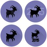 Goat symbol of the coming year. Vector goat symbol of the coming year Stock Photo