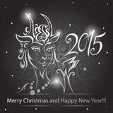Goat - symbol 2015 - Illustration. Vector illustration of a goat - a symbol of 2015 on east calendar Stock Images