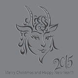 Goat - symbol 2015 - Illustration. Vector illustration of a goat - a symbol of 2015 on east calendar Royalty Free Stock Photos