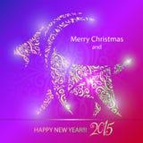 Goat - symbol 2015 - Illustration. Vector illustration of a goat - a symbol of 2015 on east calendar Stock Image