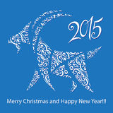 Goat - symbol 2015 - Illustration. Vector illustration of a goat - a symbol of 2015 on east calendar Royalty Free Stock Photo