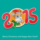 Goat - symbol 2015 - Illustration. Vector illustration of a goat - a symbol of 2015 on east calendar vector illustration