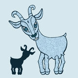 Goat 2015. Symbol of the new year. Vector hand drawn cartoon illustration vector illustration