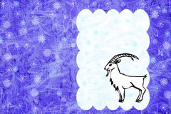 Goat symbol of the year Royalty Free Stock Photo