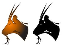 Goat tattoo symbol Stock Photography