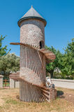 Goat tower on a farm near Paarl. PAARL, SOUTH AFRICA - DECEMBER 11, 2014:  Goat tower on a farm near Paarl, one of only a few on earth Royalty Free Stock Photo