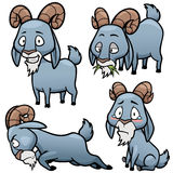 Goat. Vector illustration of Cartoon Goat Character Set Royalty Free Stock Photography