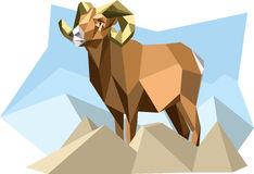 Goat. Vector illustration of goat in the cubism style Royalty Free Stock Photography