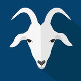 Goat. Vector illustration of goat, symbol of 2015. Element for New Year's design.Flat design Royalty Free Stock Photography
