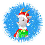 Goat winter illustration Stock Images