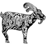 Goat Zentangle Style Stock Images