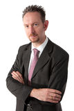 Goatee Businessman with Arms Crossed Royalty Free Stock Photos