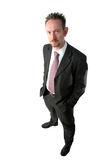 Goatee Businessman with Hands in Pockets Stock Image