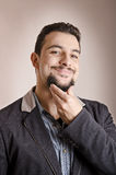 Goatee expressive man Stock Images