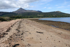Goatfell and beach Arran Royalty Free Stock Photography