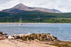 Goatfell on the Isle of Arran, Scotland. Stock Photography
