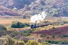 Goathland, τραίνο ατμού που δεσμεύεται για Whitby Στοκ Φωτογραφία