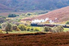 Goathland, York du nord amarre le chemin de fer de vapeur photos libres de droits