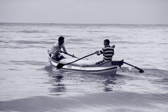 Goatijd: Vissersmensen Royalty-vrije Stock Afbeelding