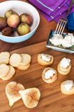 Goats cheese with Figs Royalty Free Stock Image