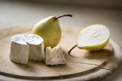 Goats cheese and pear Royalty Free Stock Images