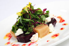 Goats cheese salad Royalty Free Stock Images