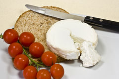 goats cheese and tomatoes  Royalty Free Stock Photography