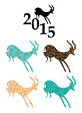 Goats - chinese 2015 year - vector Stock Photos