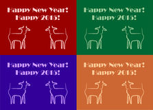 Goats New Year Stock Photo