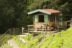 Goats pen, Lake Speicher Durlassboden Austria Royalty Free Stock Images