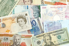 Gobal Currencies Royalty Free Stock Photography