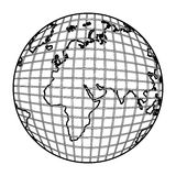 Gobal planet map icon. Illustration design Stock Photos