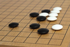 Goban with joseki Royalty Free Stock Images