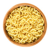 Gobbetti Pasta In Wooden Bowl Royalty Free Stock Image