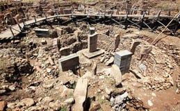 Gobekli Tepe废墟  免版税库存图片