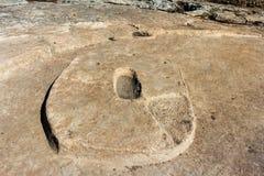 Gobekli Tepe abbassa il tempio Fotografie Stock
