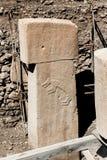 Gobekli Tepe - glifo di Fox sulla T-pietra Fotografia Stock Libera da Diritti