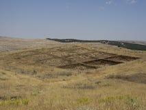 Gobekli Tepe , Sanliurfa, Turkey. Gobekli Tepe is an archaeological site at the top of a mountain ridge in the Southeastern Anatolia Region of Turkey Stock Photos
