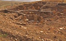 Gobeklitepe forntida tempel Arkivbilder