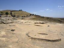 Gobeklitepe-Tempel, Sanliurfa, die Türkei lizenzfreies stockfoto
