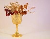 Gobelet avec les fleurs mortes Image libre de droits