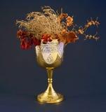 Gobelet avec les fleurs mortes Photos stock