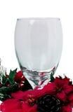 Gobelet en verre de Noël Photographie stock