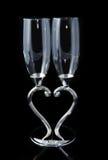 Gobelets de couples de coeur d'amour Photographie stock libre de droits