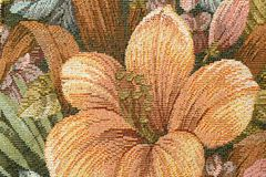 Gobelin tapestry. Fragment of flowered upholstery furniture material Royalty Free Stock Photography