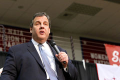 Gobernador Chris Christie del candidato presidencial de New Jersey foto de archivo libre de regalías