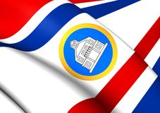 Gobernador de Sint Maarten Flag Foto de archivo libre de regalías