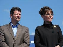 Gobernador Sarah Palin y Todd Palin Fotos de archivo libres de regalías