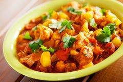 Gobi Aloo Indian curry dish Stock Photo